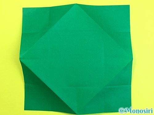 折り紙で立体的な柿の折り方手順48