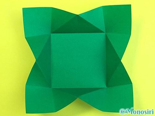 折り紙で立体的な柿の折り方手順50