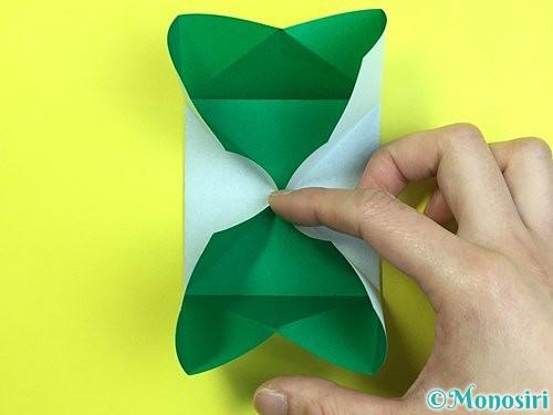 折り紙で立体的な柿の折り方手順51