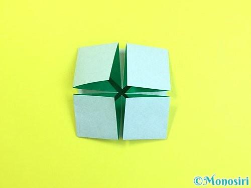 折り紙で立体的な柿の折り方手順53