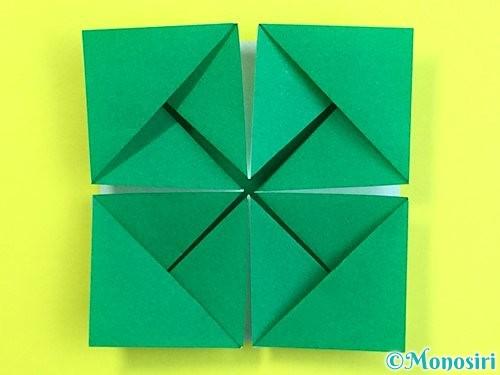 折り紙で立体的な柿の折り方手順55