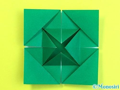 折り紙で立体的な柿の折り方手順57