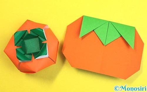 折り紙で作った柿