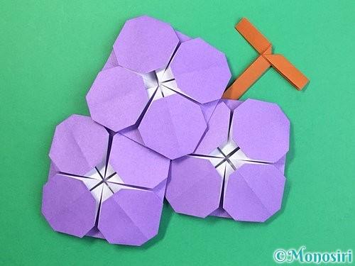 折り紙でぶどうの折り方手順46