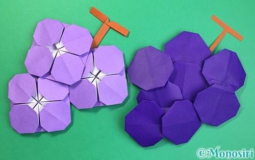 折り紙で作ったぶどう