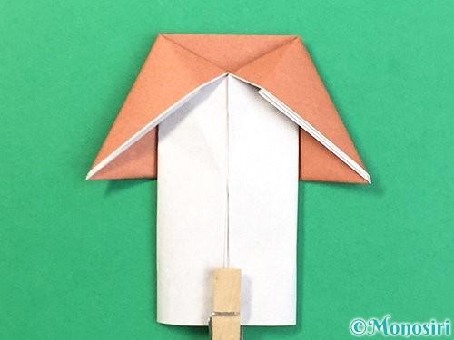 折り紙できのこの折り方手順20