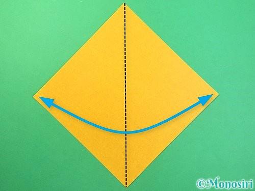 折り紙できのこの折り方手順1