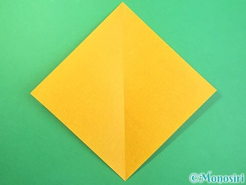 折り紙できのこの折り方手順2
