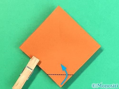 折り紙で栗の折り方手順20
