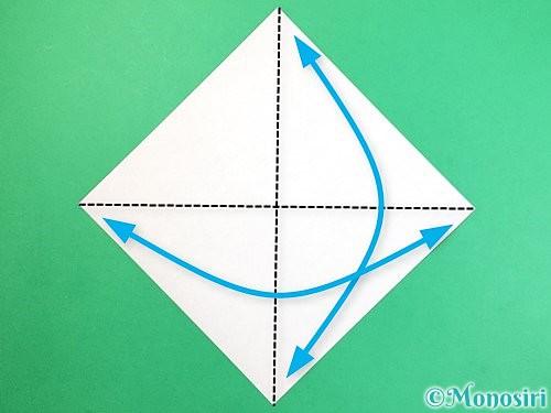 折り紙で栗の折り方手順1