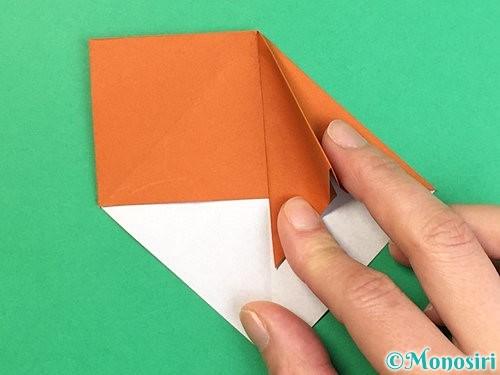 折り紙で栗の折り方手順13