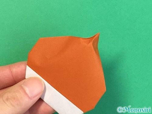 折り紙で栗の折り方手順33