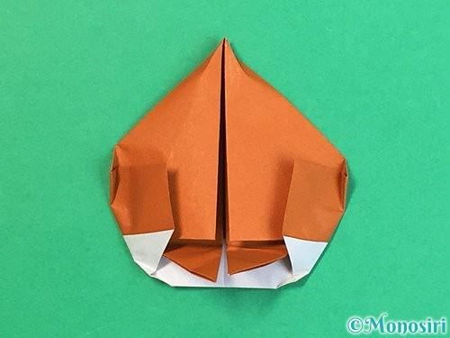 折り紙で栗の折り方手順36