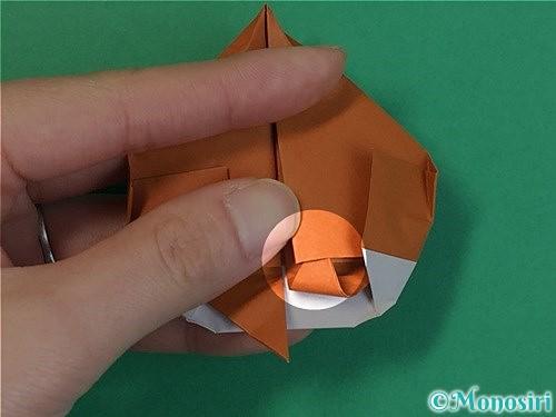 折り紙で栗の折り方手順37