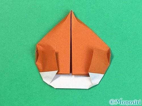 折り紙で栗の折り方手順38