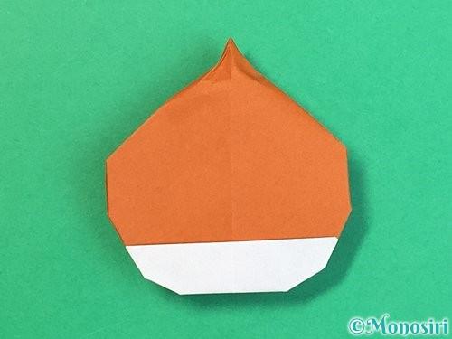 折り紙で栗の折り方手順34