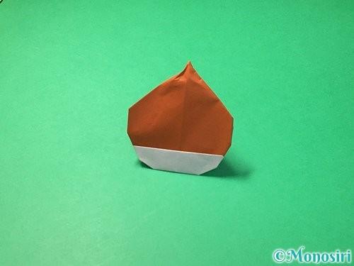 折り紙で栗の折り方手順35