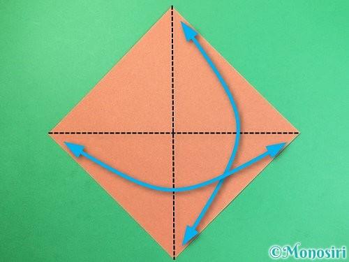 折り紙でどんぐりの折り方手順1