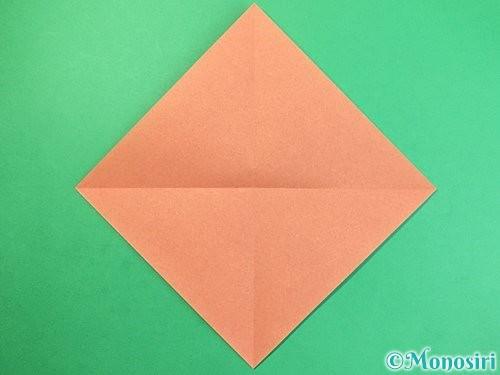折り紙でどんぐりの折り方手順2