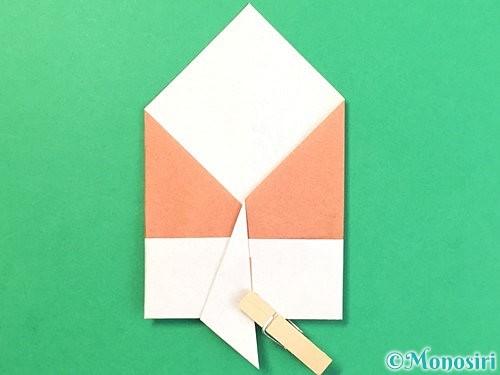折り紙でどんぐりの折り方手順15