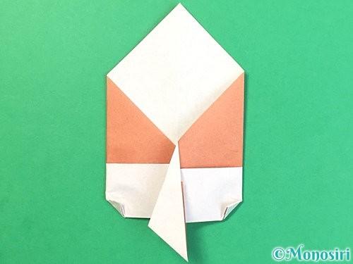 折り紙でどんぐりの折り方手順17