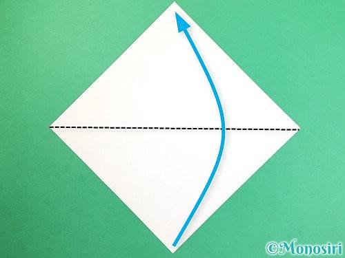 折り紙でお月見団子の折り方手順1