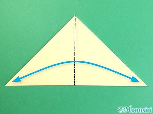 折り紙でお月見団子の折り方手順3