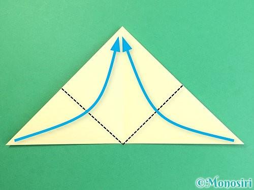 折り紙でお月見団子の折り方手順5