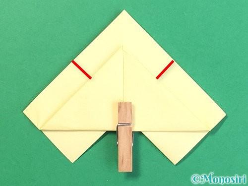 折り紙でお月見団子の折り方手順17