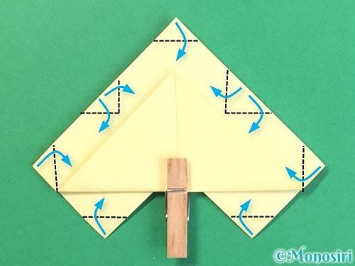 折り紙でお月見団子の折り方手順18