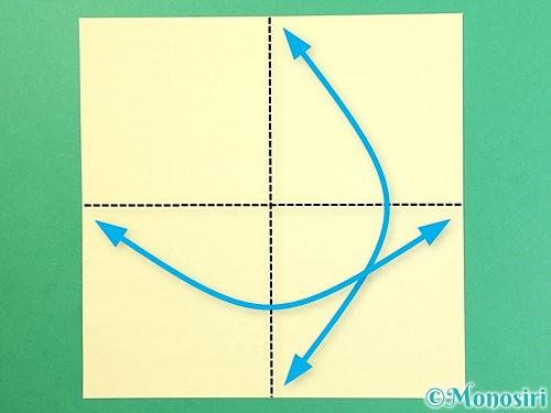 折り紙でお月見団子の折り方手順21