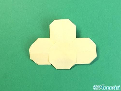 折り紙でお月見団子の折り方手順32