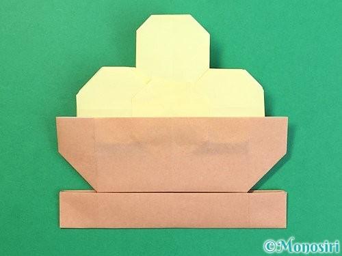 折り紙でお月見団子の折り方手順65