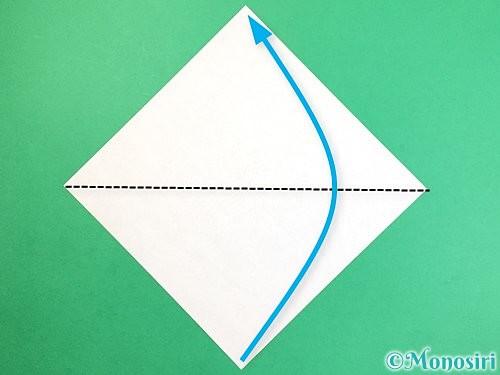 折り紙で花瓶の折り方手順1