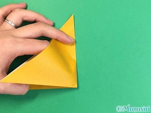 折り紙で花瓶の折り方手順5