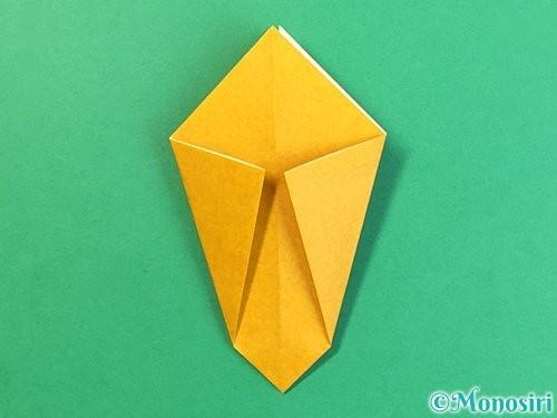 折り紙で花瓶の折り方手順12