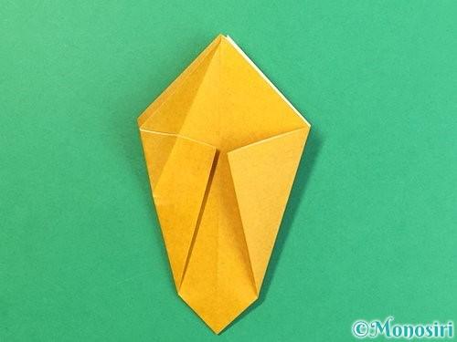 折り紙で花瓶の折り方手順14