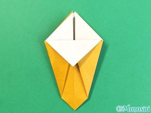 折り紙で花瓶の折り方手順16