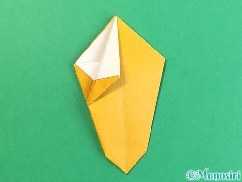 折り紙で花瓶の折り方手順20