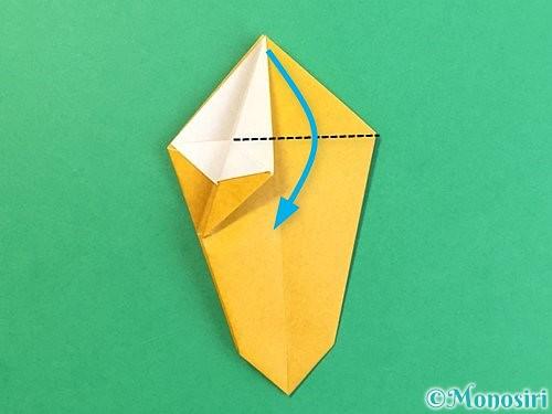 折り紙で花瓶の折り方手順21