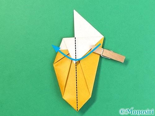 折り紙で花瓶の折り方手順24
