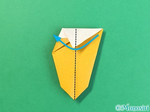 折り紙で花瓶の折り方手順27