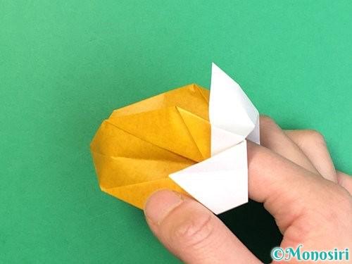 折り紙で花瓶の折り方手順35