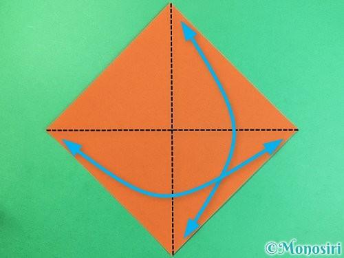 折り紙でコオロギの折り方手順1