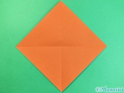 折り紙でコオロギの折り方手順2