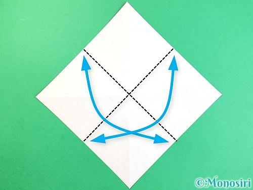 折り紙でコオロギの折り方手順4