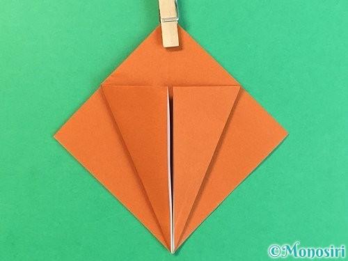 折り紙でコオロギの折り方手順10