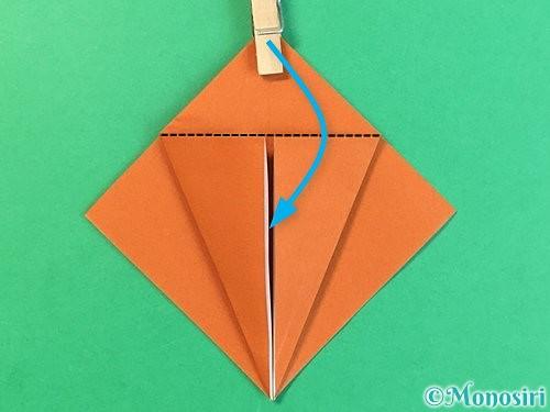 折り紙でコオロギの折り方手順11