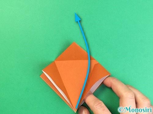 折り紙でコオロギの折り方手順14