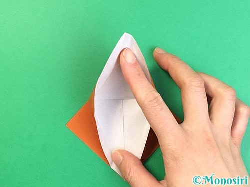 折り紙でコオロギの折り方手順15